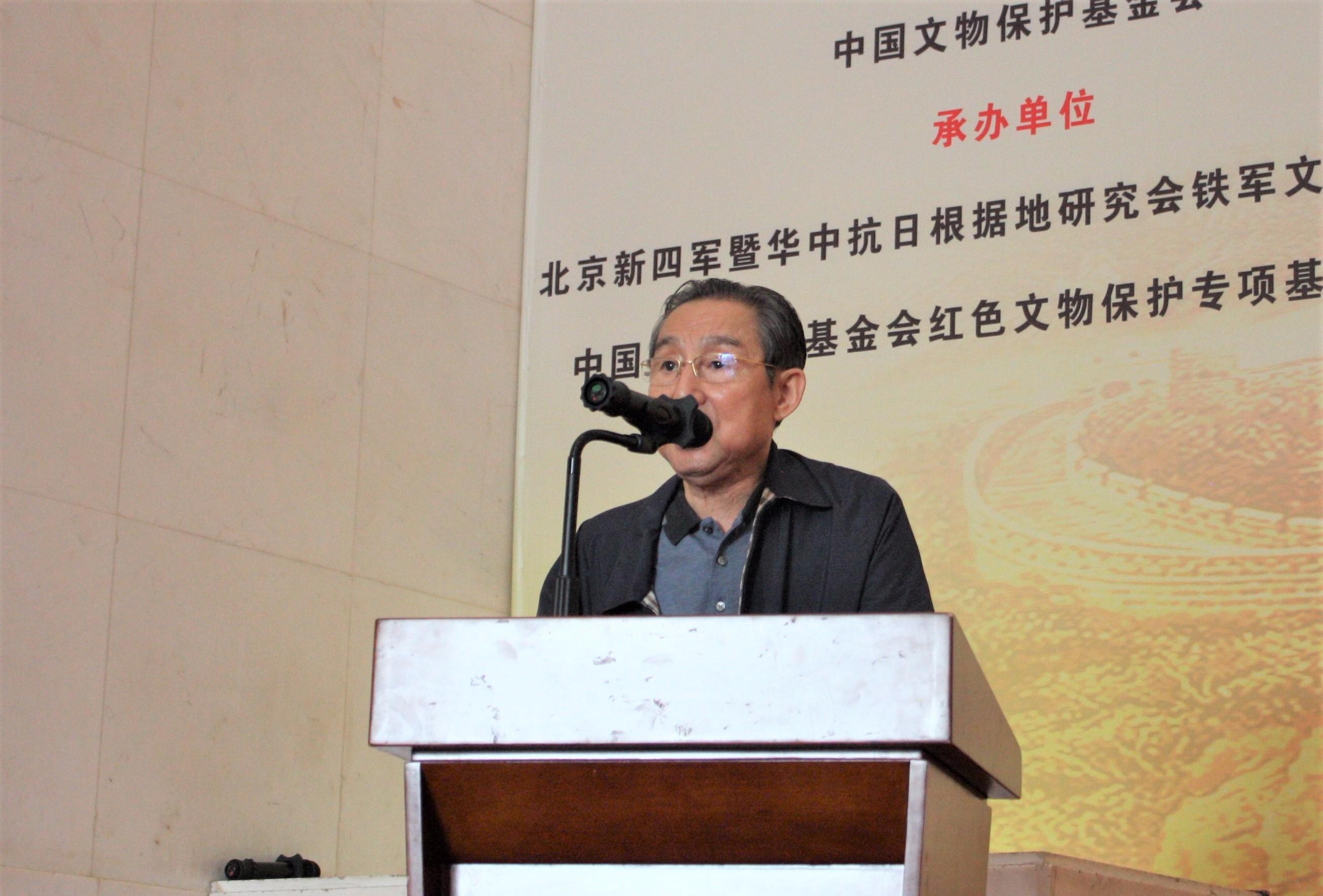 新四军将领彭雪枫之子、原第二炮兵政委彭小枫上将宣布书画展和笔会.JPG